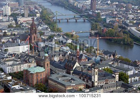 panoramic view of Frankfurt cityscape