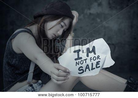 Stressed Girl Of Human Trafficking