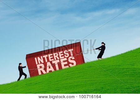 Business People With Higher Interest Rates