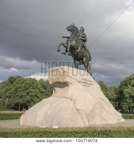 Monument To Peter 1 (bronze Horseman). 1782. Sculptor E.-m. Falcone