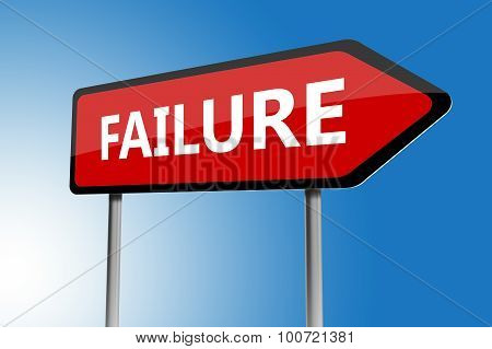 Illustration Of Failure Directions Sign