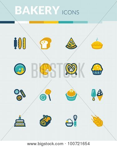 Bakery Colorful Flat Icons
