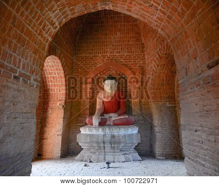 Buddha Statue In Temple At Bagan