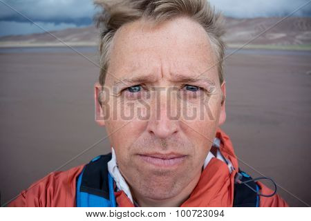 Sandy Face Selfie
