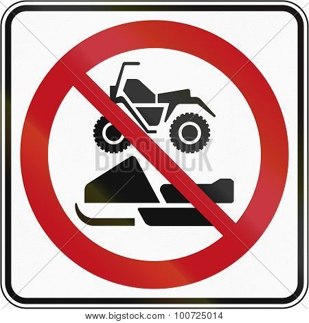 No Snowmobiles And Atvs In Canada