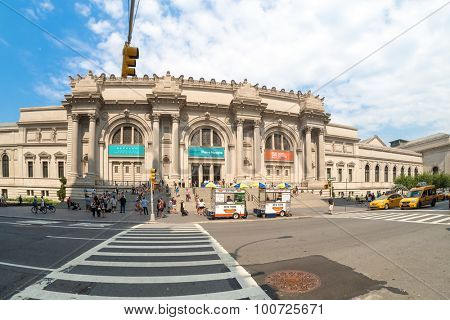NEW YORK,USA- AUGUST 18,2015 : The Metropolitan Museum of Art, one of the largest art museums in the world