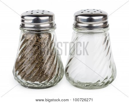 Transparent Glass Shakers With Salt And Pepper