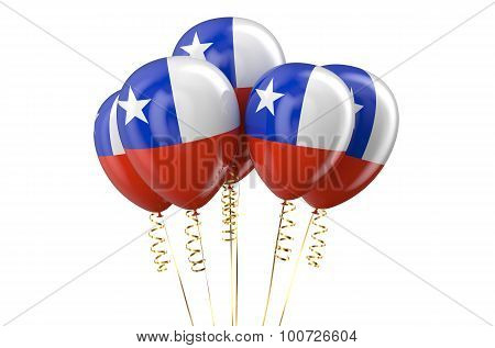 Chile Patriotic Balloons Holyday Concept