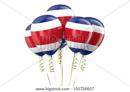 Costa Rica Patriotic Balloons, Holyday Concept