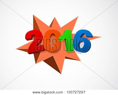 new year 2016 starburst icon