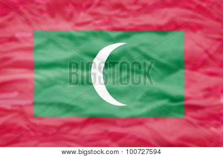 Maldives flag.