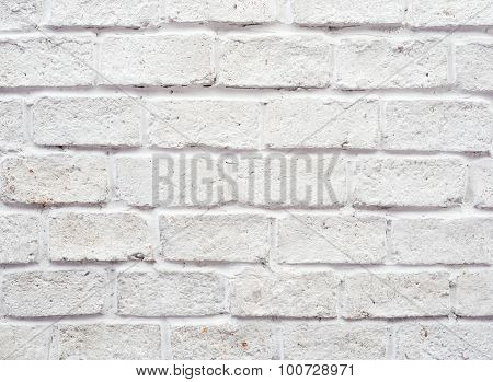 Abstract white old brick wall background made from Stone.