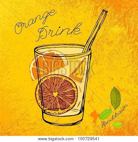 Handdrawn Orange