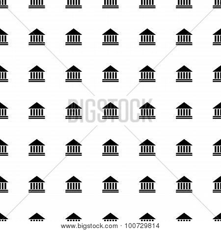 Court Building Seamless Pattern. Vector