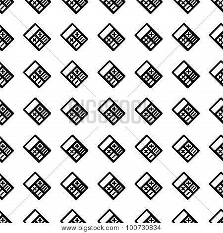 Calculator Seamless Pattern. Vector