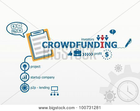 Crowdfunding Conceptand Notebook For Efficiency, Creativity, Intelligence.