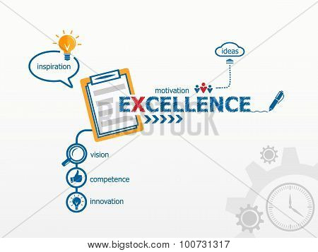 Excellence And Notebook For Efficiency, Creativity, Intelligence.