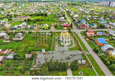 Aerial view on temple in honor of Ascension