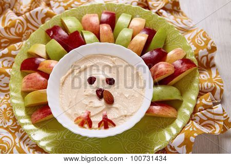 Apples with caramel cream cheese dip