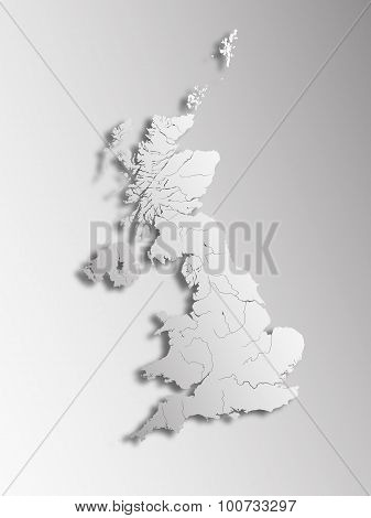 Map Of The United Kingdom.