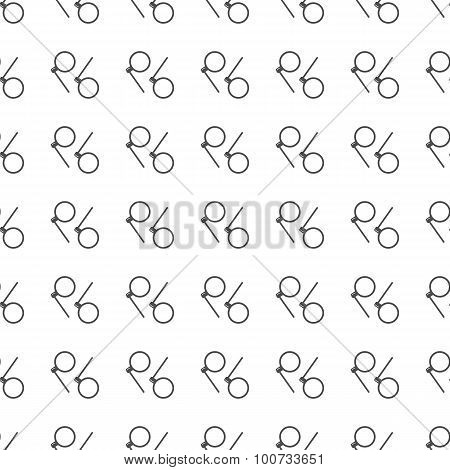 Monocle Seamless Pattern. Vector