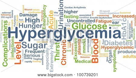 Background concept wordcloud illustration of hyperglycemia