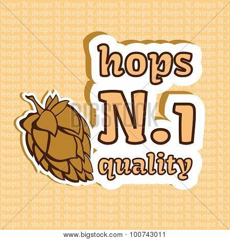 Hops Number 1 Quality Illustration
