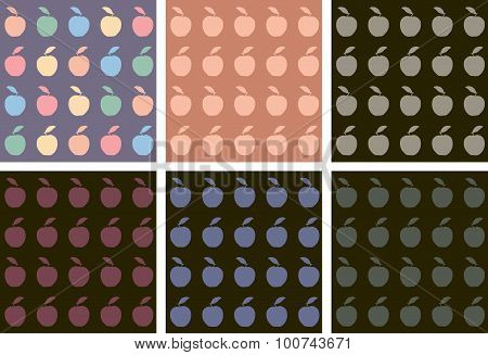 Colorful Apples Pattern.