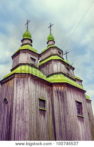 Green Wooden Domes Of The Orthodox Churchg