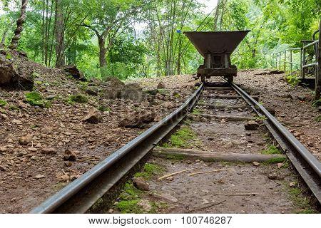 Old Rail Cart, Kanchanaburi, Thailand