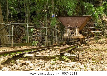 Old Rail Cart In Hellfire Pass, Kanchanaburi, Thailand