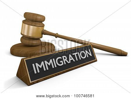 Court law concept for immigration and policy reform