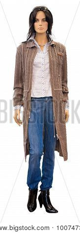 Mannequin In Knitted Coat, Clipping Path