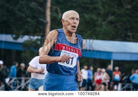 old man runs 400 meters