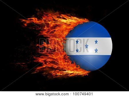 Flag With A Trail Of Fire - Honduras