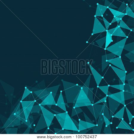 Abstract Polygonal Space Dark Background