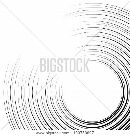Curved Speed Lines Background