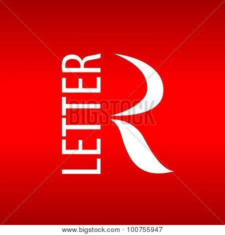 Vector Logo Abstract Letter R On A Red Background