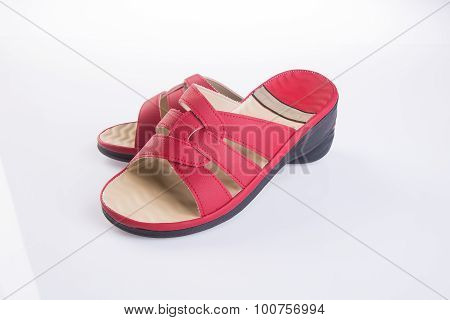 female fashion sandal on Background