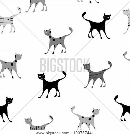 cats background black
