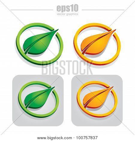 Set Of Leaf Illustration