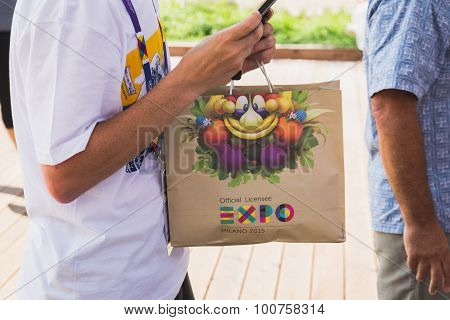 Bag With Foody At Expo 2015 In Milan, Italy