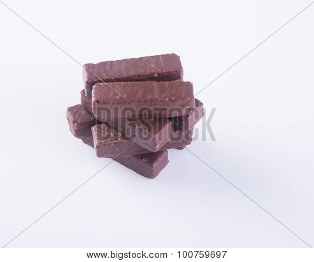 Chocolate Wafer. Chocolate Wafer On Background