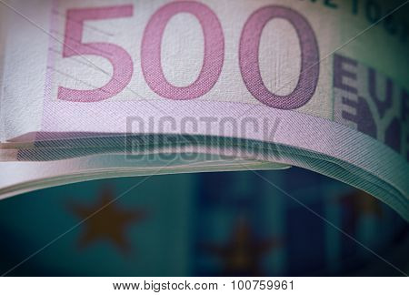 Stack Of 500 Euro