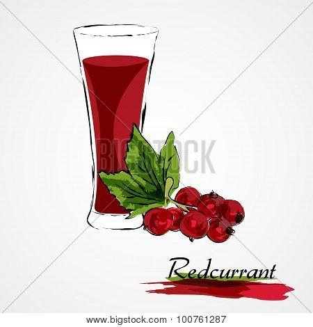 Redcurrant juice
