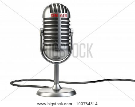 Retro Style Microphone With
