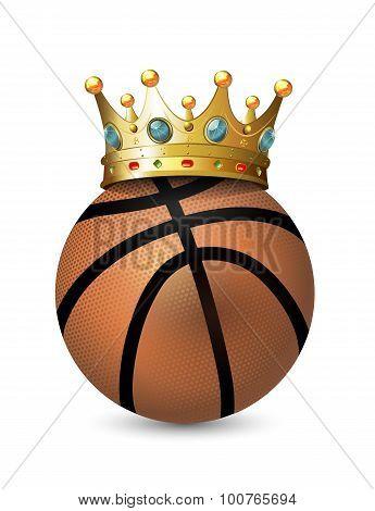 Crown On The Basketball Balls