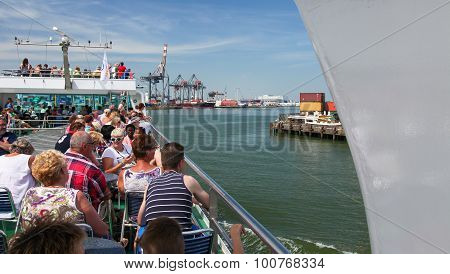 Cruise Through Rotterdam Port, The Netherlands