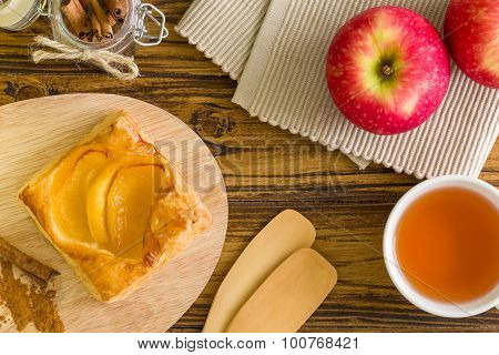 Apple Puff Pastry Background / Apple Puff Pastry / Homemade Apple Puff Pastry Background