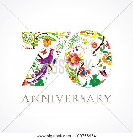 70 anniversary folk logo